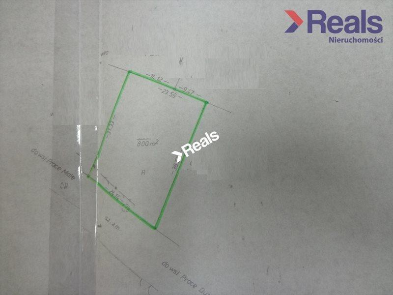 Działka budowlana na sprzedaż Prace Duże  800m2 Foto 2