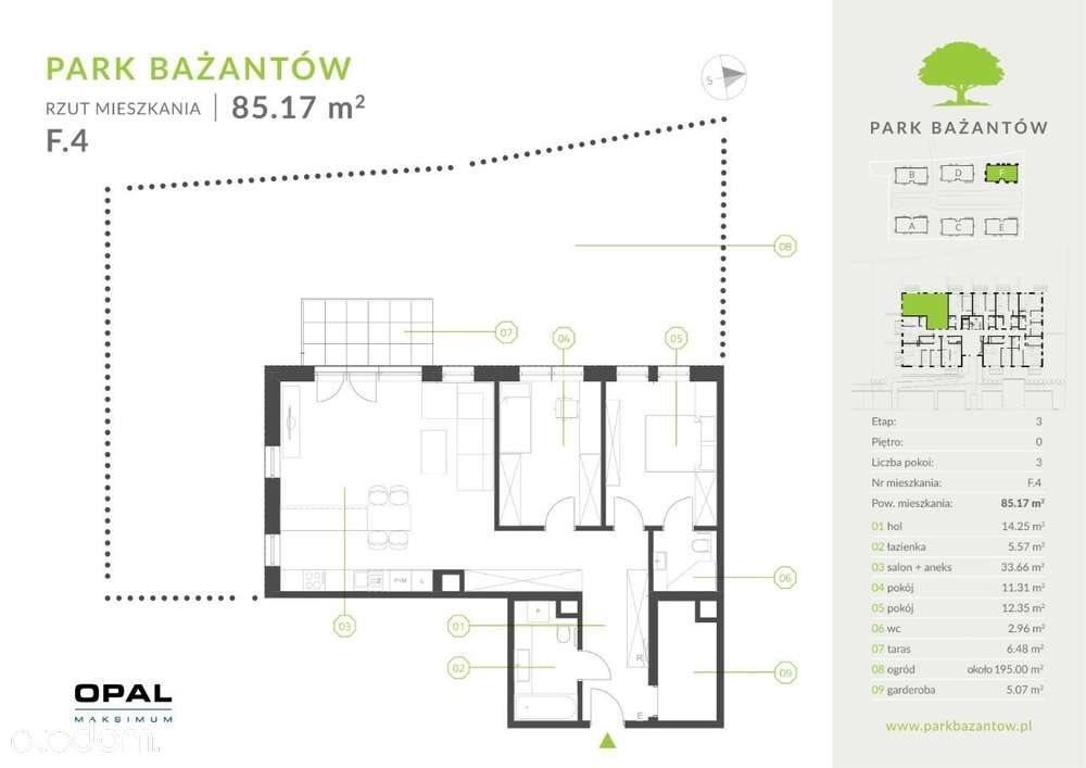 Mieszkanie trzypokojowe na sprzedaż Katowice, Kostuchna, Bażantów 20  85m2 Foto 1