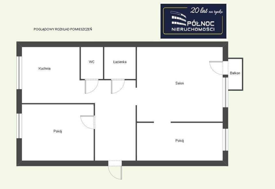 Mieszkanie trzypokojowe na sprzedaż Pabianice, M-4 umeblowane, dostępne od zaraz, plus garaż  48m2 Foto 7