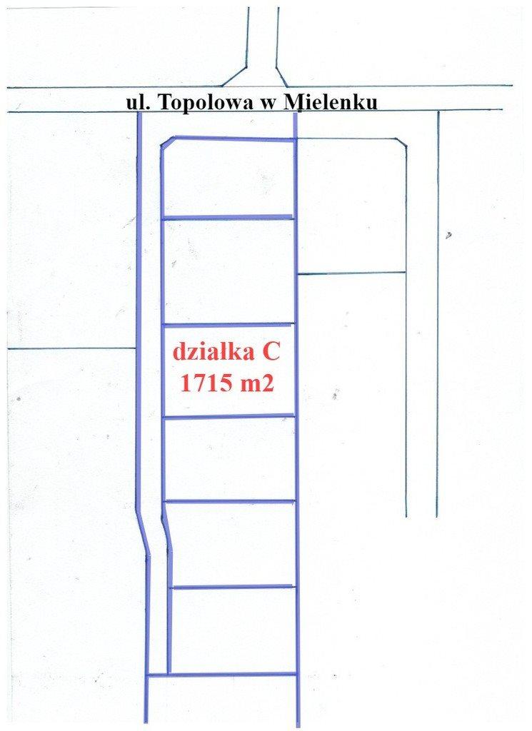 Działka inna na sprzedaż Mielenko  1715m2 Foto 2