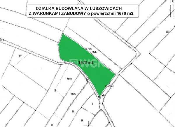 Działka budowlana na sprzedaż Luszowice, Luszowice  1670m2 Foto 3