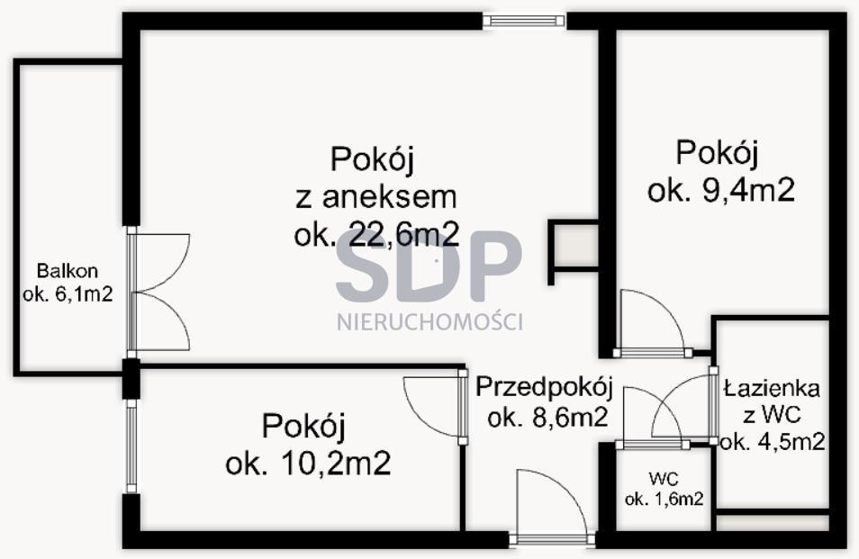 Mieszkanie trzypokojowe na sprzedaż Wrocław, Krzyki, Księże Małe, Księska  57m2 Foto 1