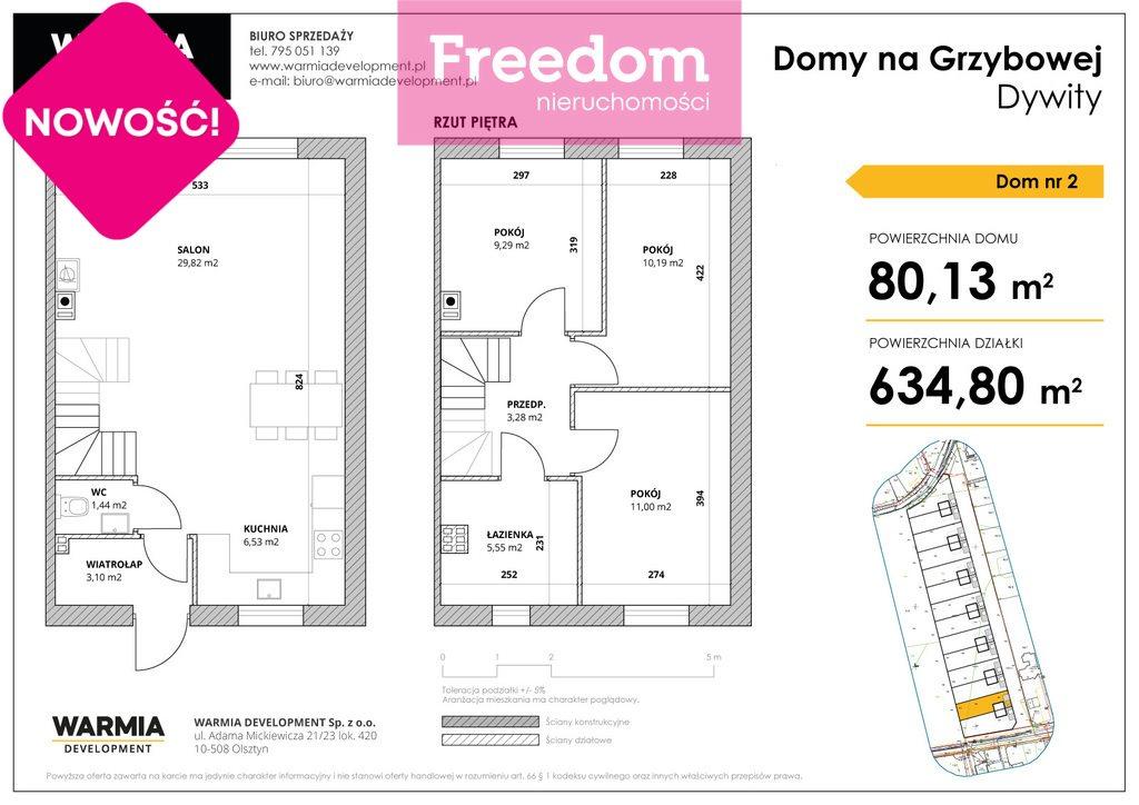Dom na sprzedaż Dywity, Grzybowa  89m2 Foto 9