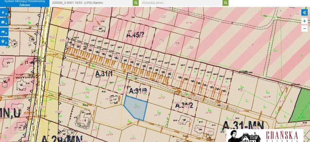 Działka inwestycyjna na sprzedaż Banino, saturna  954m2 Foto 1