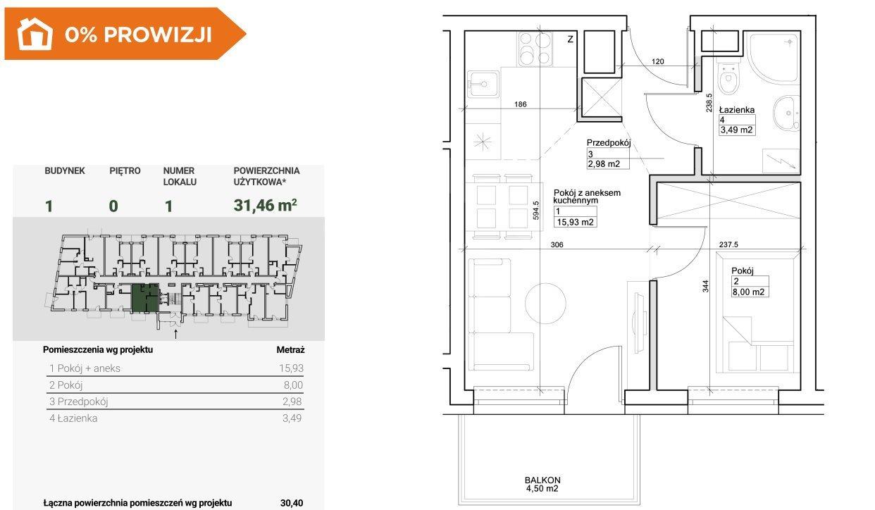 Mieszkanie dwupokojowe na sprzedaż Bydgoszcz, Szwederowo  31m2 Foto 2