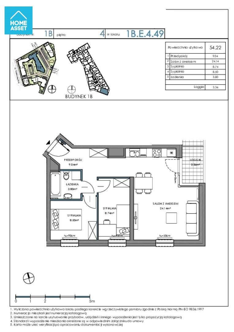 Mieszkanie trzypokojowe na sprzedaż Gdańsk, Letnica, Starowiejska  54m2 Foto 4