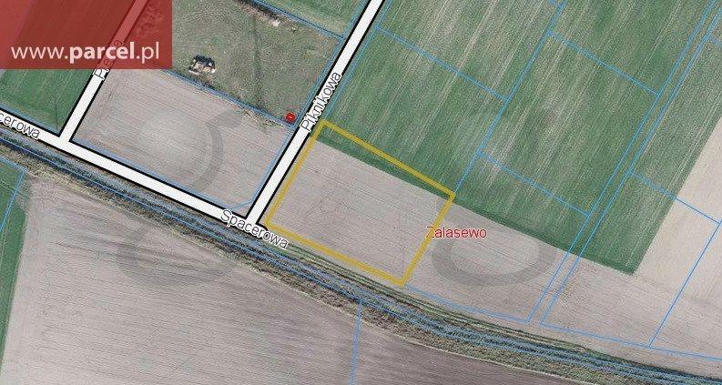 Działka budowlana na sprzedaż Zalasewo, Piknikowa  3030m2 Foto 1