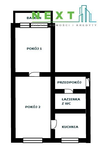 Mieszkanie dwupokojowe na sprzedaż Katowice  36m2 Foto 9