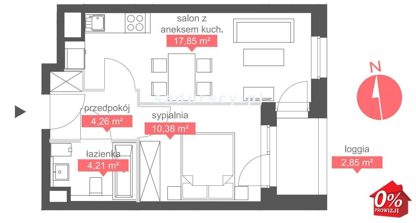 Mieszkanie dwupokojowe na sprzedaż Kraków, Bronowice, Bronowice Małe, Bronowicka  37m2 Foto 3