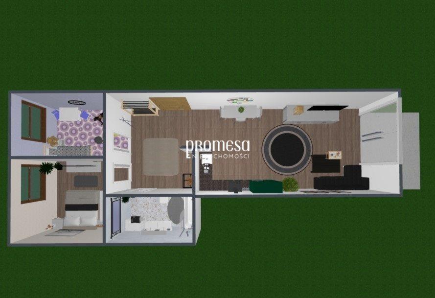 Mieszkanie trzypokojowe na sprzedaż Siechnice  52m2 Foto 4