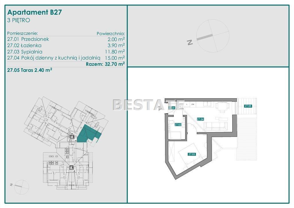 Mieszkanie dwupokojowe na sprzedaż Zakopane  33m2 Foto 7