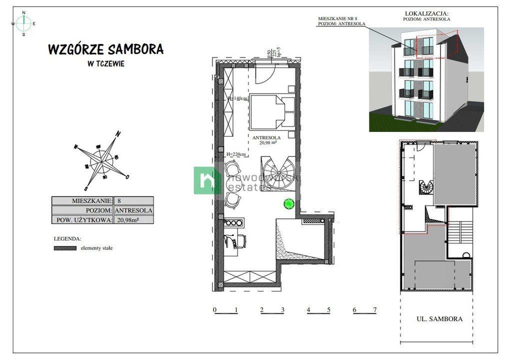 Mieszkanie dwupokojowe na sprzedaż Tczew, Sambora  50m2 Foto 10
