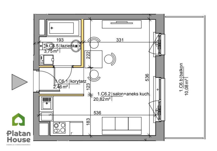 Mieszkanie dwupokojowe na sprzedaż Warszawa, Praga-Południe Kamionek, Mińska  28m2 Foto 2