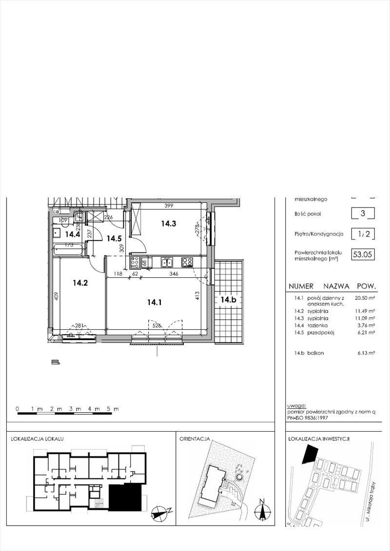 Mieszkanie trzypokojowe na sprzedaż Warszawa, Tarchomin, Marcina z Wrocimowic  54m2 Foto 1