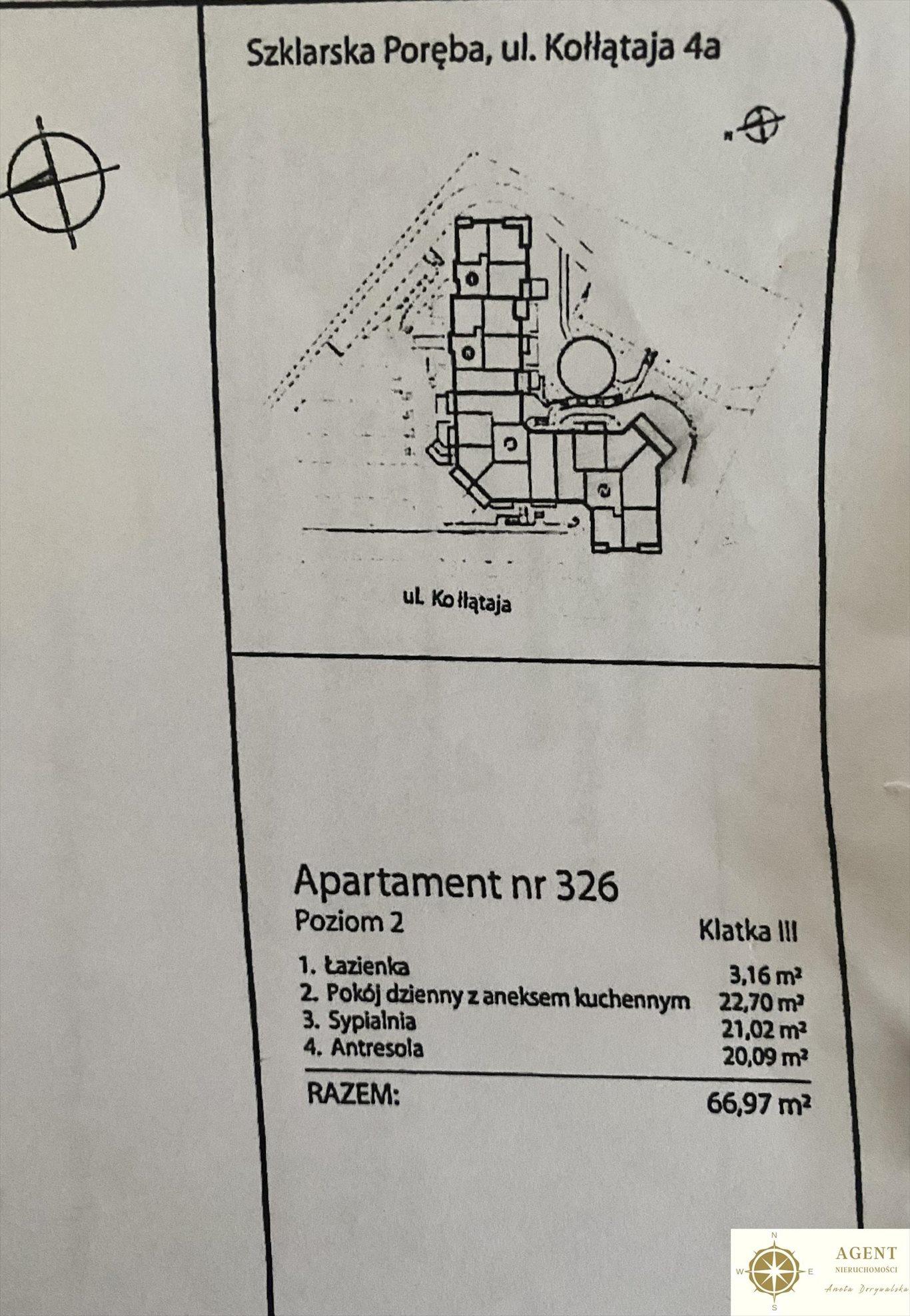 Mieszkanie trzypokojowe na sprzedaż Szklarska Poręba, Hugo Kołłątaja  67m2 Foto 9