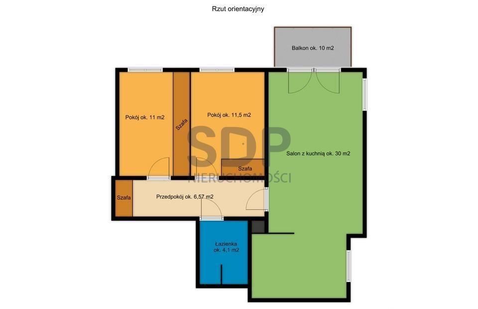 Mieszkanie trzypokojowe na sprzedaż Wrocław, Krzyki, Jagodno, Vivaldiego  65m2 Foto 4