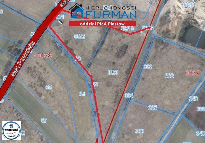 Działka inwestycyjna na sprzedaż Piła, Motylewo  36818m2 Foto 6