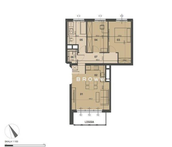 Mieszkanie trzypokojowe na sprzedaż Poznań, Grunwald, Bułgarska  65m2 Foto 7