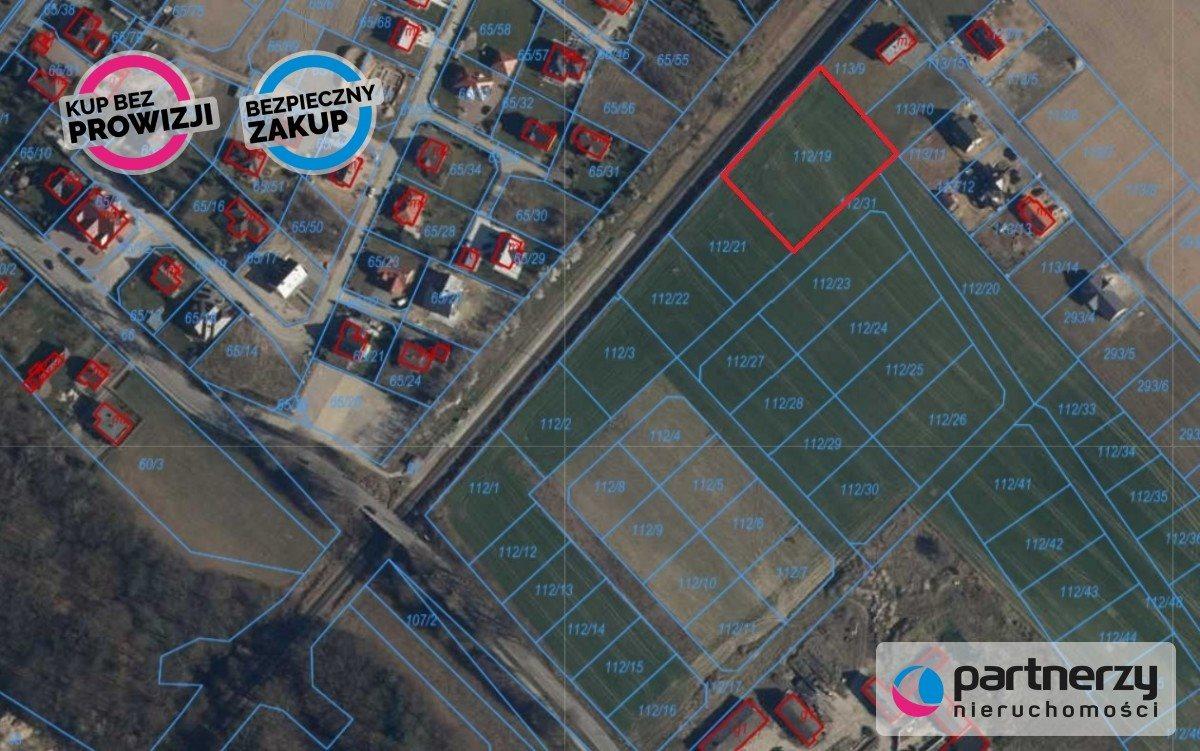 Działka budowlana na sprzedaż Pępowo, Gdańska  3188m2 Foto 1