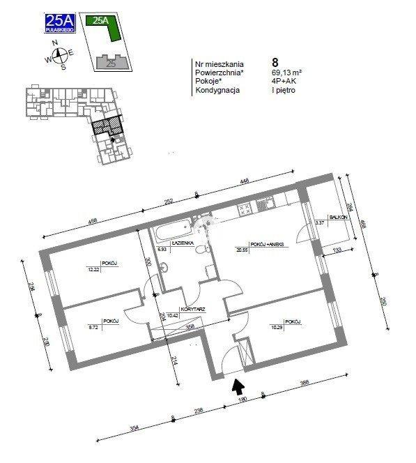 Mieszkanie czteropokojowe  na sprzedaż Bydgoszcz, Bartodzieje Wielkie, Kazimierza Pułaskiego  70m2 Foto 4