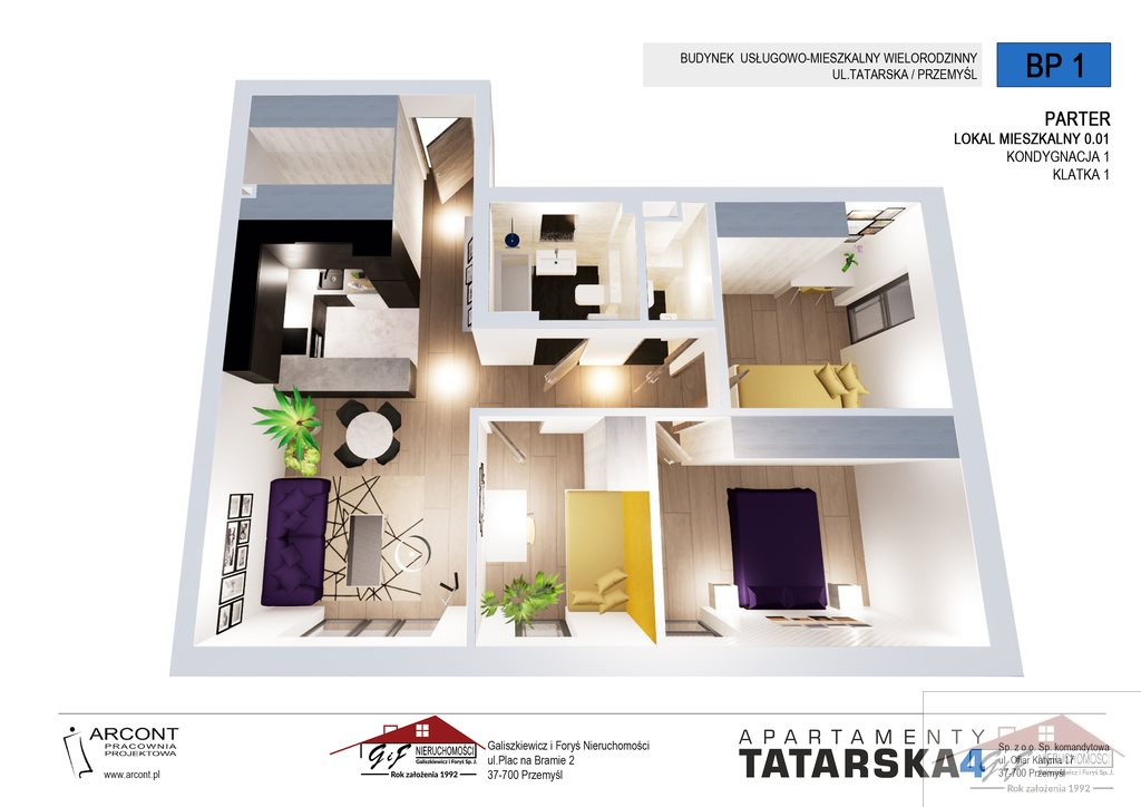 Mieszkanie czteropokojowe  na sprzedaż Przemyśl, Tatarska  70m2 Foto 3