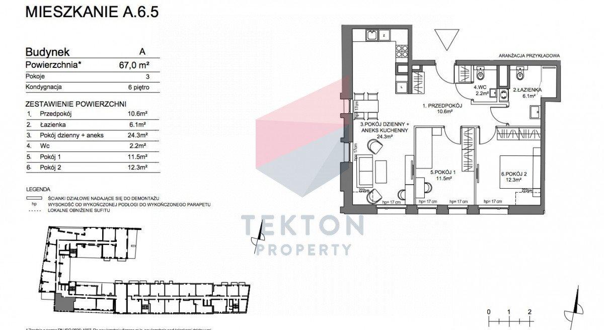 Mieszkanie trzypokojowe na sprzedaż Gdańsk, Śródmieście, Pszenna  67m2 Foto 4