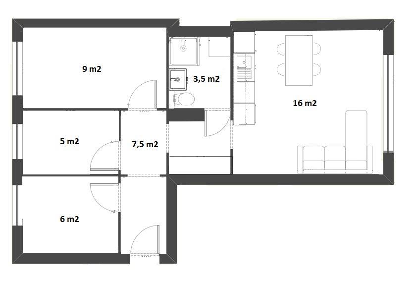 Mieszkanie czteropokojowe  na sprzedaż Kraków, Czyżyny, osiedle Juzefa strusia, osiedle Juzefa strusia 3  47m2 Foto 13