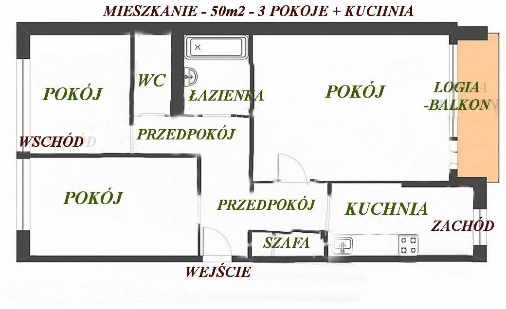 Mieszkanie trzypokojowe na sprzedaż Warszawa, Wola, Ulrychów, Jana Olbrachta 58  50m2 Foto 1
