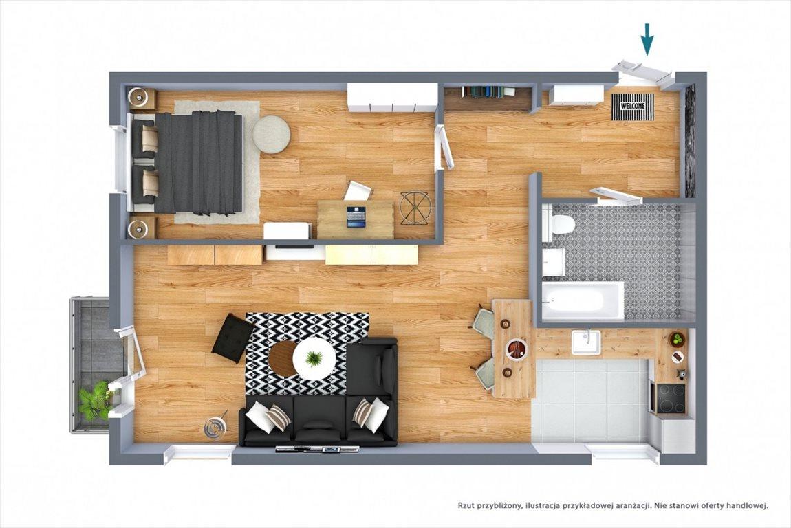 Mieszkanie dwupokojowe na sprzedaż Wrocław, Huby, Gliniana  59m2 Foto 9