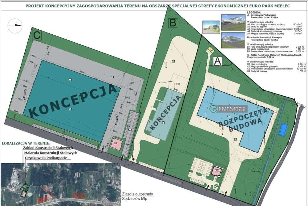 Działka komercyjna na sprzedaż Sędziszów Małopolski  33400m2 Foto 2