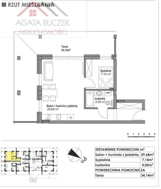 Mieszkanie dwupokojowe na sprzedaż Ustka  43m2 Foto 9