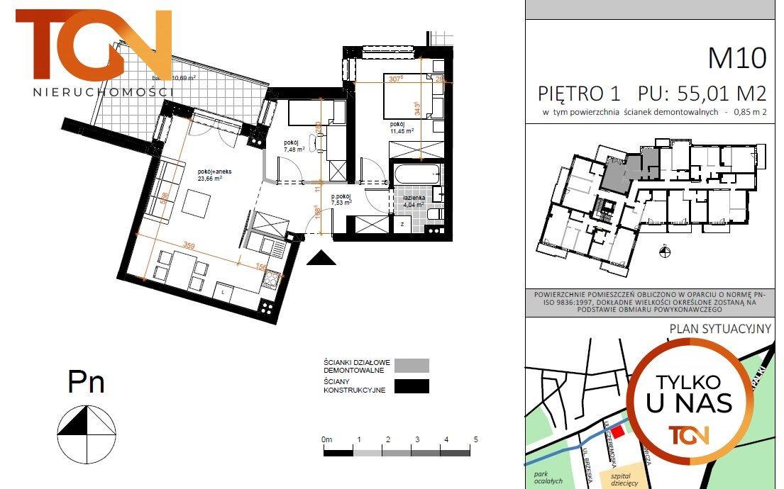 Mieszkanie trzypokojowe na sprzedaż Łódź, Doły, Czeremoska  57m2 Foto 5