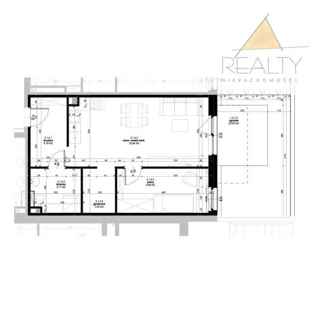 Mieszkanie dwupokojowe na sprzedaż Leszno, Ogrody  48m2 Foto 7