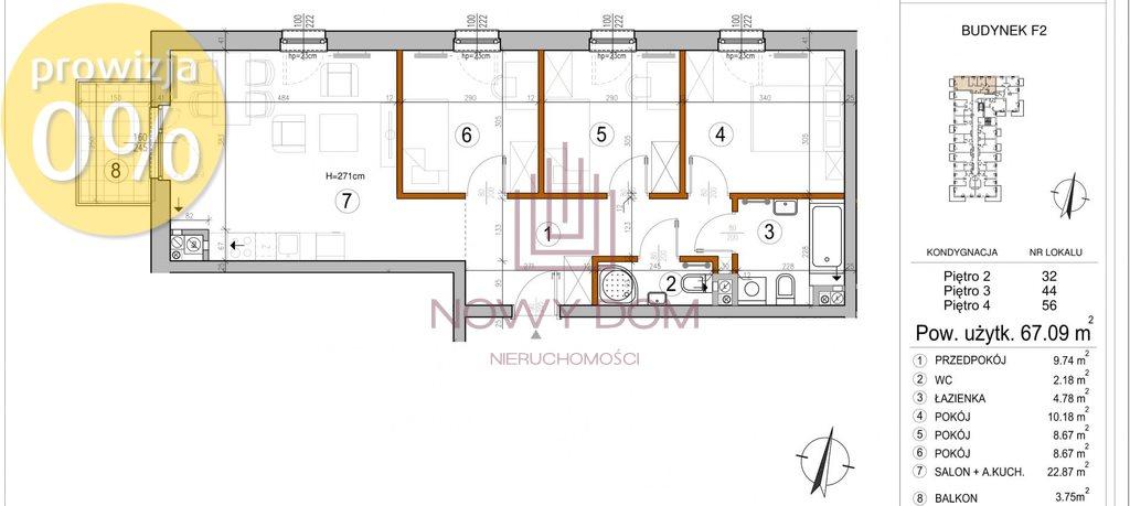 Mieszkanie czteropokojowe  na sprzedaż Warszawa, Rembertów, Chełmżyńska  67m2 Foto 2