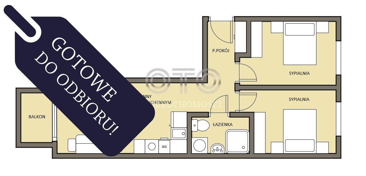 Mieszkanie trzypokojowe na sprzedaż Wrocław, Krzyki, Grabiszynek, Racławicka  51m2 Foto 2