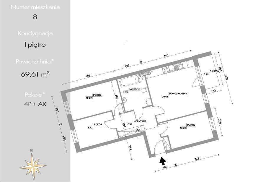 Mieszkanie czteropokojowe  na sprzedaż Bydgoszcz, Bartodzieje Wielkie, Kazimierza Pułaskiego  70m2 Foto 3