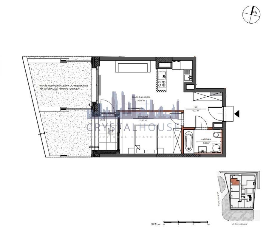 Mieszkanie dwupokojowe na sprzedaż Warszawa, Śródmieście, Górnośląska  44m2 Foto 9