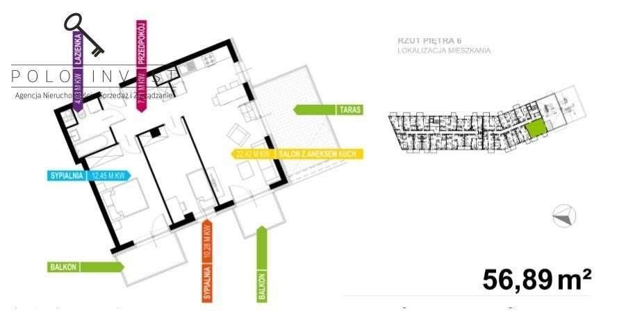 Mieszkanie trzypokojowe na sprzedaż Kraków, Prądnik Biały, kraków  57m2 Foto 4