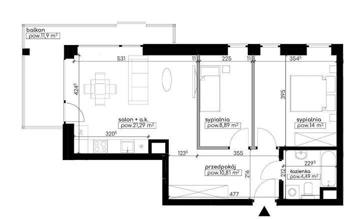 Mieszkanie trzypokojowe na sprzedaż Lublin, Węglin, Kwarcowa  59m2 Foto 3