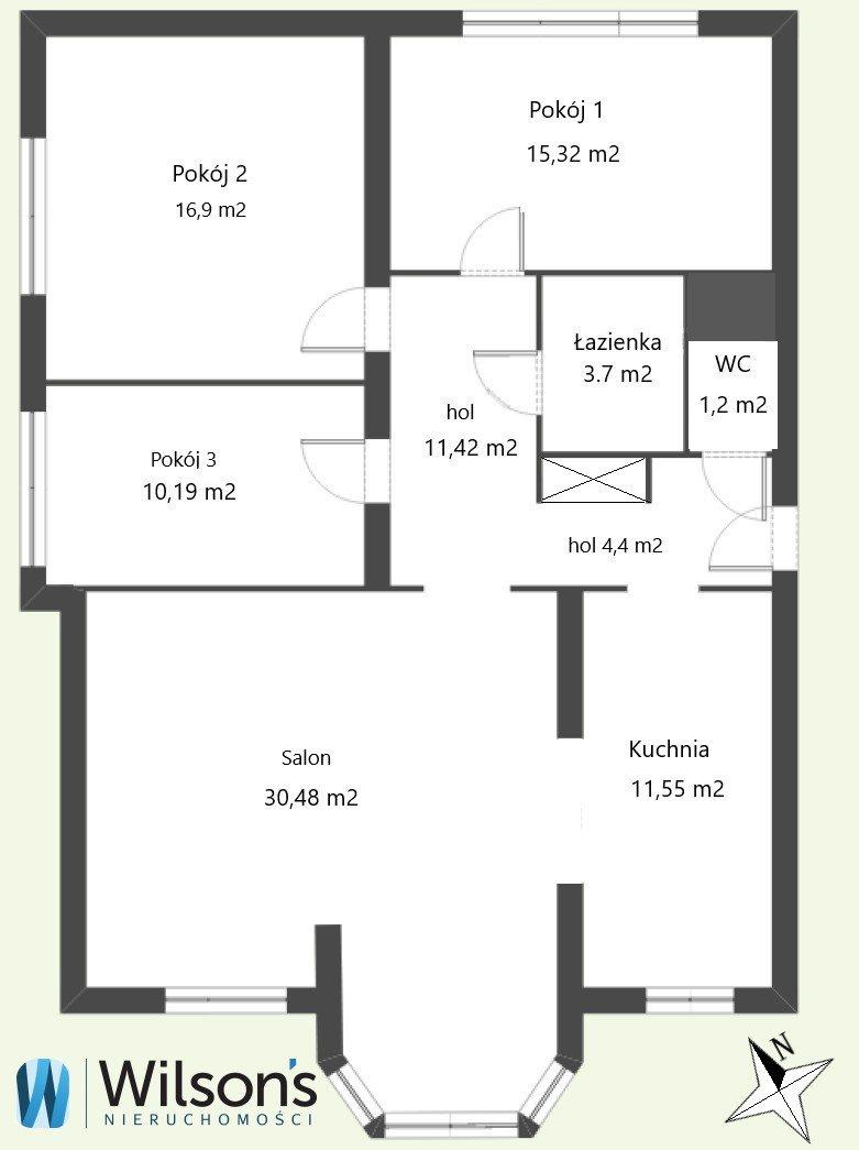 Mieszkanie czteropokojowe  na sprzedaż Warszawa, Wilanów, Królowej Marysieńki  101m2 Foto 9