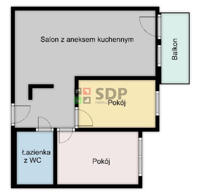 Mieszkanie trzypokojowe na sprzedaż Wrocław, Krzyki, Księże Wielkie, Cieszyńska  55m2 Foto 4