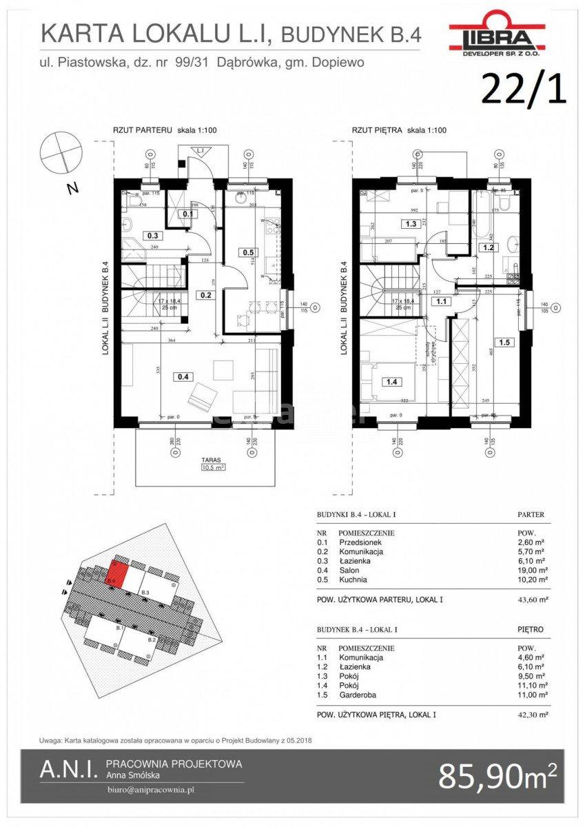 Dom na sprzedaż Dąbrówka  89m2 Foto 5