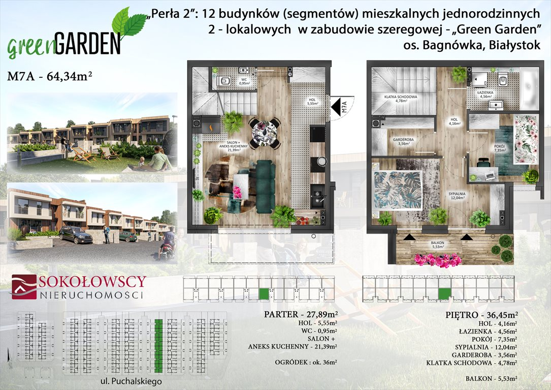 Mieszkanie trzypokojowe na sprzedaż Białystok, Bagnówka  64m2 Foto 1