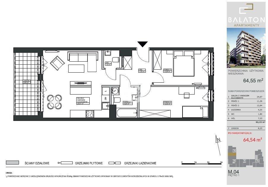 Mieszkanie trzypokojowe na sprzedaż Bydgoszcz, Bartodzieje Wielkie, Ceramiczna  65m2 Foto 3