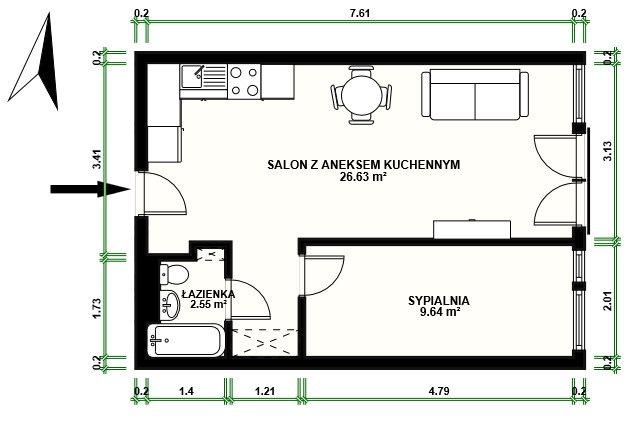 Mieszkanie dwupokojowe na sprzedaż Warszawa, Śródmieście  39m2 Foto 13