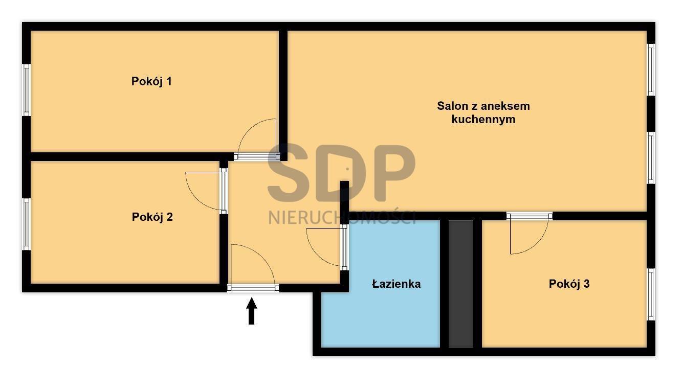 Mieszkanie czteropokojowe  na sprzedaż Wrocław, Stare Miasto, Przedmieście Oławskie, Tadeusza Kościuszki  58m2 Foto 4