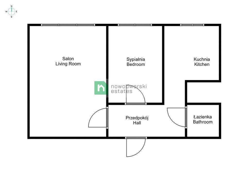 Mieszkanie dwupokojowe na wynajem Poznań, Nowe Miasto, os. Oświecenia  38m2 Foto 10