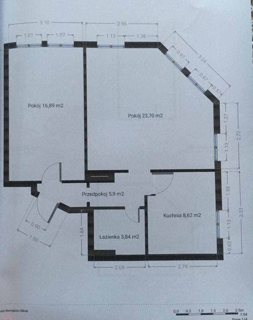 Mieszkanie dwupokojowe na sprzedaż Jelenia Góra  59m2 Foto 15