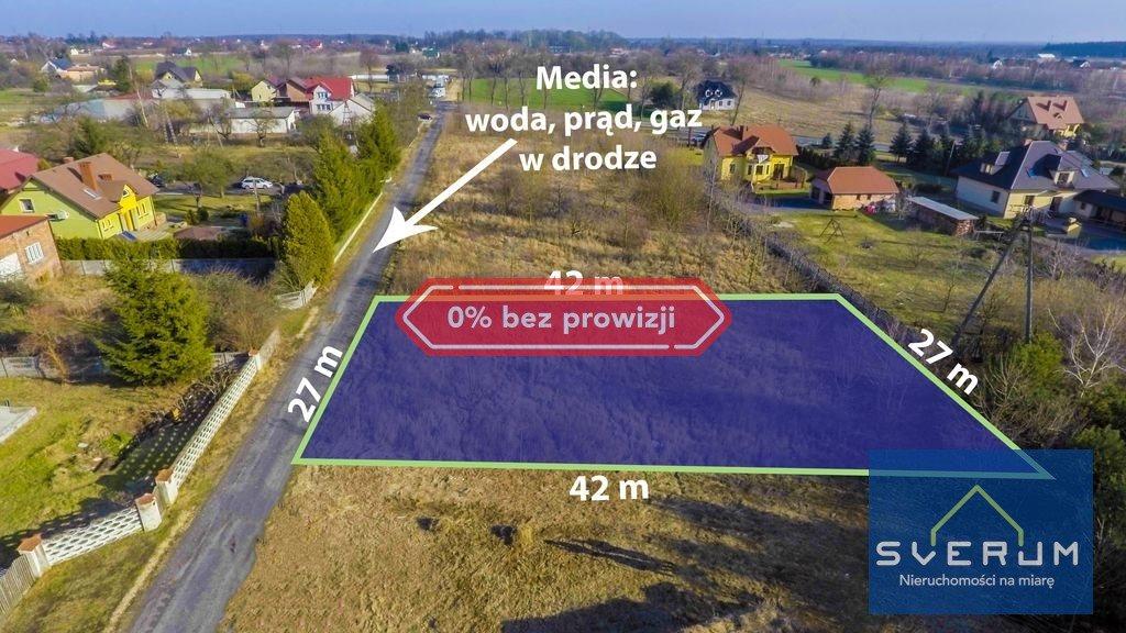Działka budowlana na sprzedaż Chorzenice, Leśna  1138m2 Foto 1