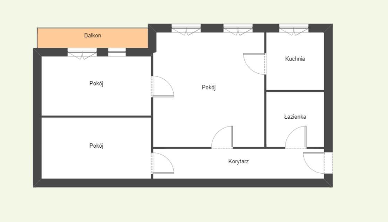 Mieszkanie trzypokojowe na sprzedaż Poznań, Rataje, os. Piastowskie  53m2 Foto 7